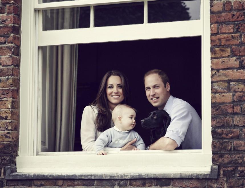 William Kate e George nella foto perfetta