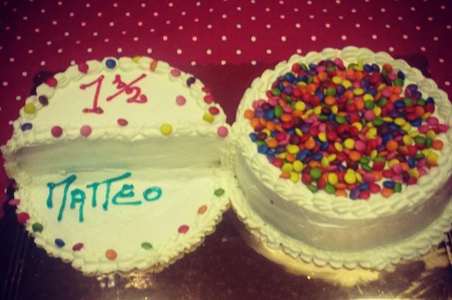 1 anno e mezzo torta matteo