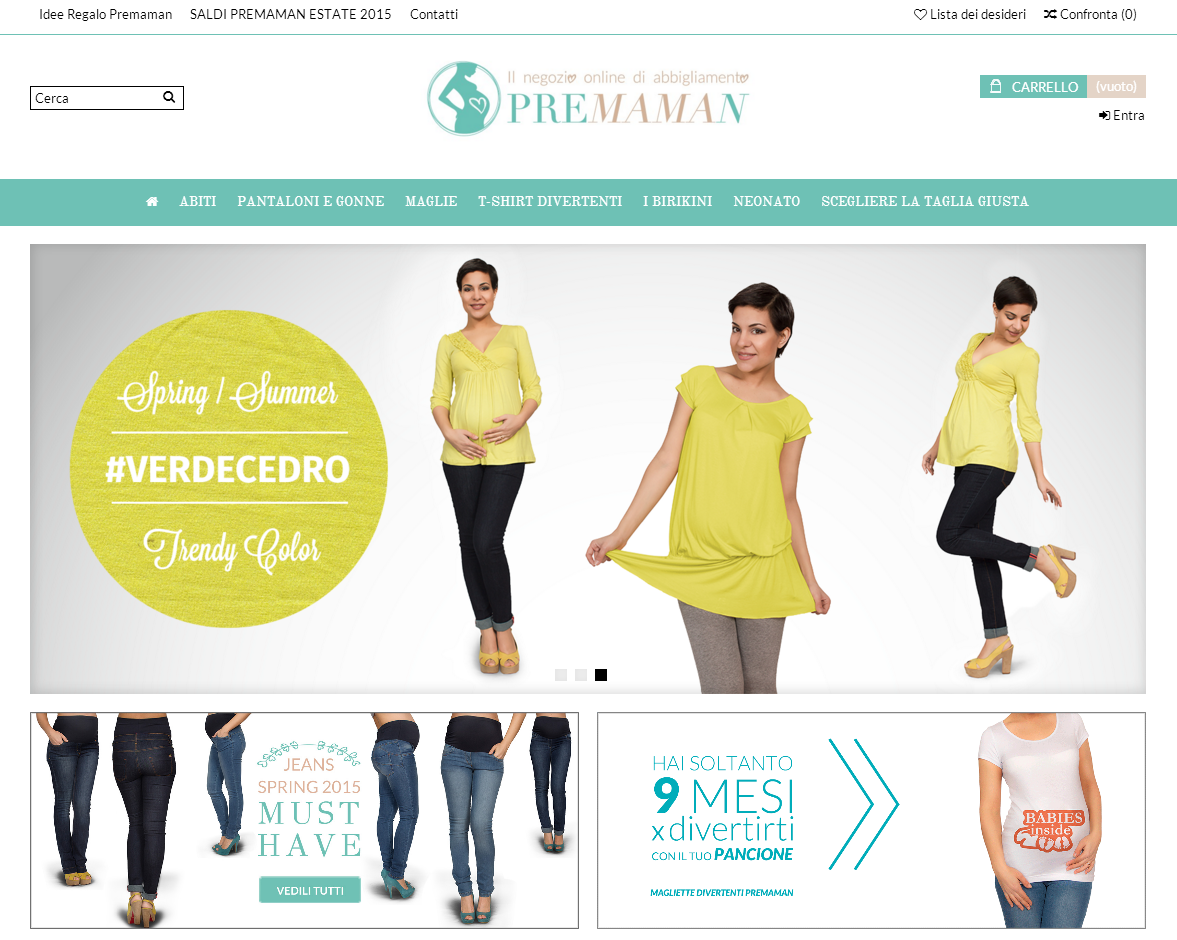d857b96145cc Premamanonline.com  abbigliamento gravidanza e allattamento in pochi ...
