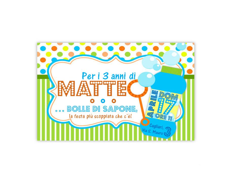 INVITO festa MATTEO 3 ANNI