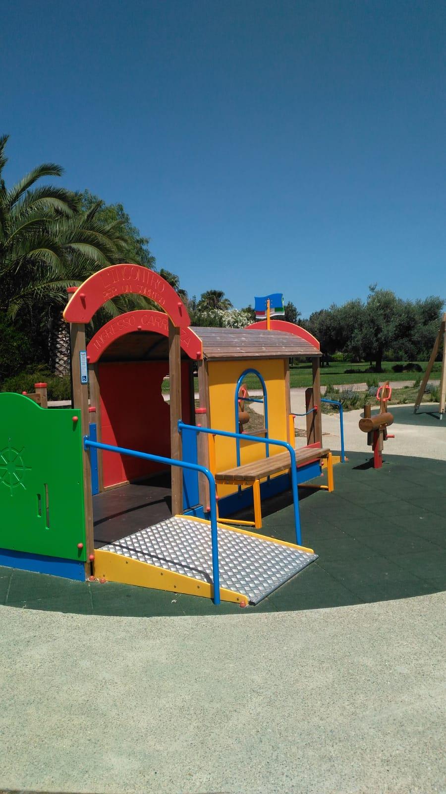 Terramaini parco giochi anche per disabili