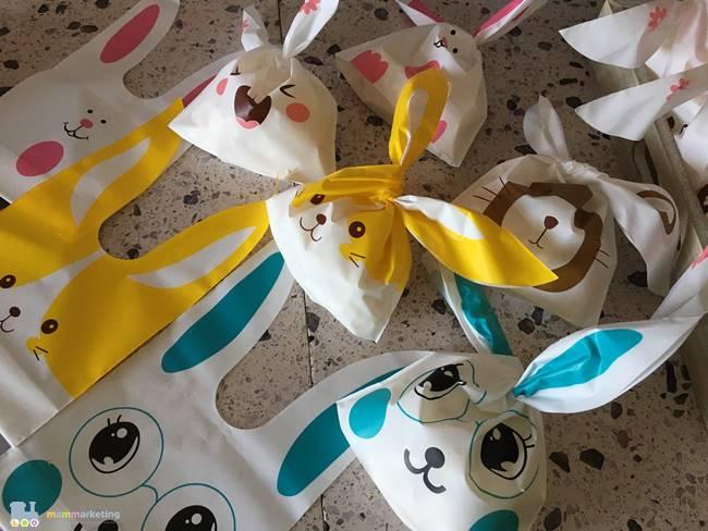 Bustine a forma di coniglietti per i pop corn