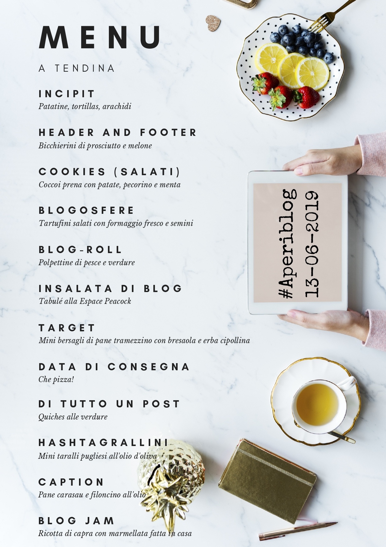 Menu blogger aperiblog