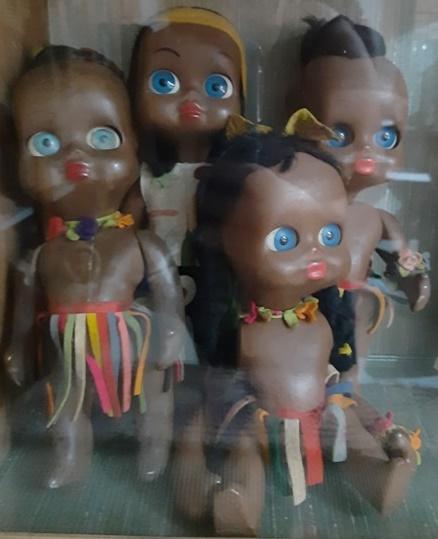 Bamboline nere nella Collezione Fontana di Bambole