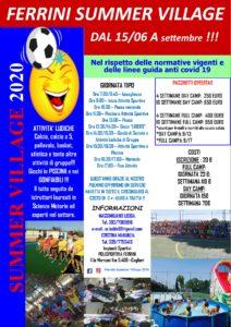 Summer Village 2020 @ Ferrini Cagliari