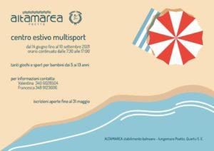 Campo estivo Multisport @ Stabilimento Altamarea