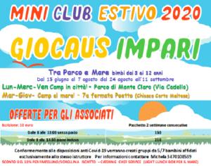 Giocaus Impari: campo estivo tra parco e mare @ Parco di Monteclaro